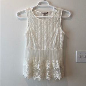Lace tank top for summer and spring